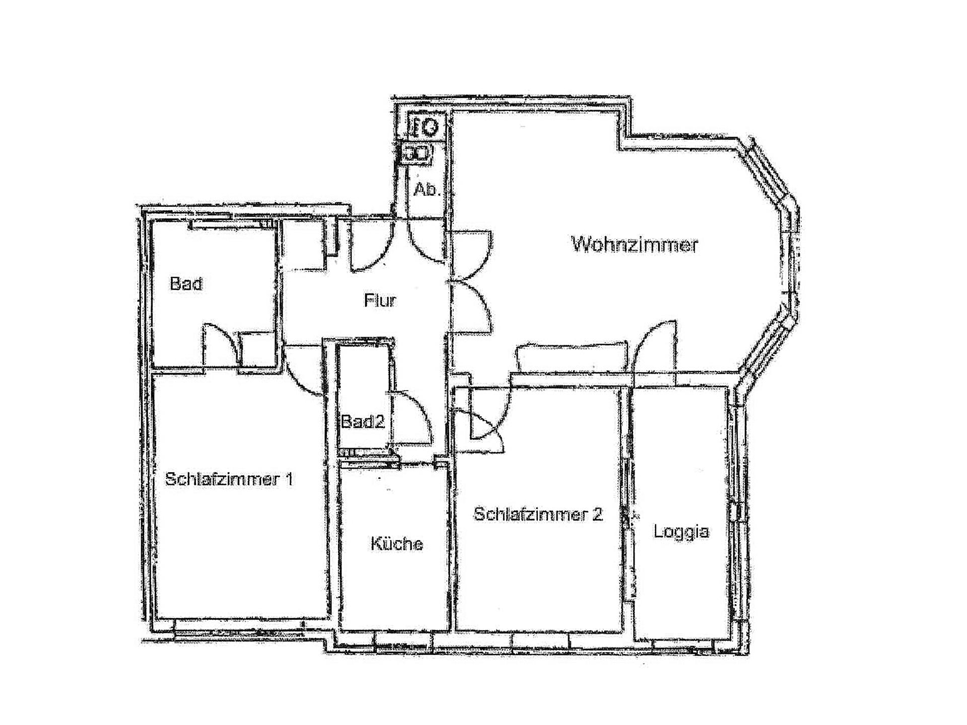 Grundriss Wohnung 12